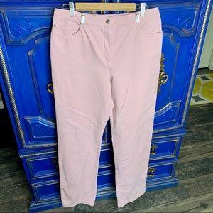 St. John Sport Essentials Pink Rose Pants Size 12